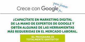 Google y Junior achievement Américas anuncian el programa crece con google para Jóvenes 2021-2022