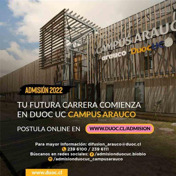 Duoc UC Campus Arauco inició proceso de postulaciones de cara a la admisión 2022