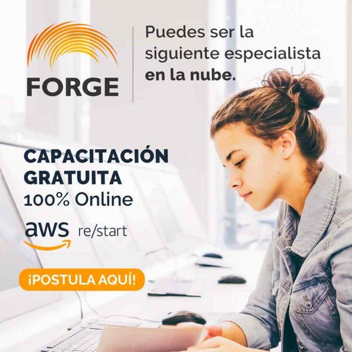 Fundación Forge ofrecerá el programa gratuito AWS re/Start orientado al desarrollo de habilidades computacionales en la nube para iniciar una carrera en la industria tecnológica
